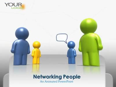 ID# 1930 - Social Networking People - PowerPoint Template
