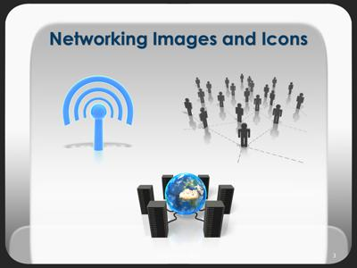 Social Networking People PowerPoint Template