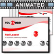 Red Leader PowerPoint template