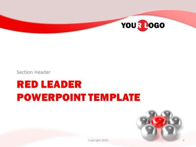 Red leader a powerpoint template from presentermedia id2139 standard template red leader toneelgroepblik Choice Image