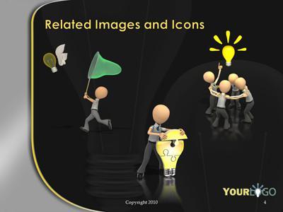 Light bulb idea a powerpoint template from presentermedia toneelgroepblik Choice Image