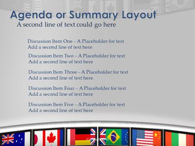 world screen flags a powerpoint template from presentermedia com