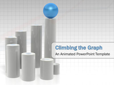ID# 2614 - Ball Climbing Graph - PowerPoint Template