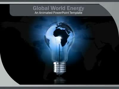 ID# 2812 - Global World Energy - PowerPoint Template