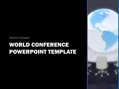 world conference - a powerpoint template from presentermedia, Modern powerpoint