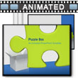ID# 3339 Green Puzzle Piece in Box PowerPoint Template