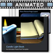 ID# 3373 Book By Candle Light PowerPoint Template