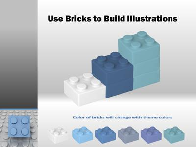 building blocks tool kit - a powerpoint template from, Modern powerpoint