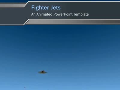 ID# 3470 - Fighter Jets - PowerPoint Template