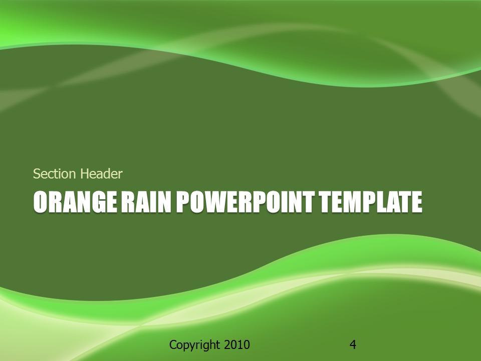 Orange rain a powerpoint template from presentermedia toneelgroepblik Image collections