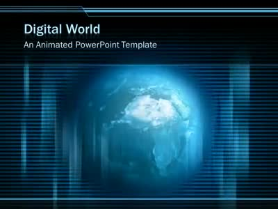 Digital Earth Revolving - A Powerpoint Template From