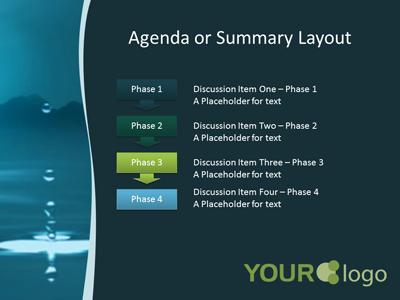 Water Drop A Powerpoint Template From Presentermedia