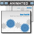 ID# 3756 Gear Tool Kit PowerPoint Template