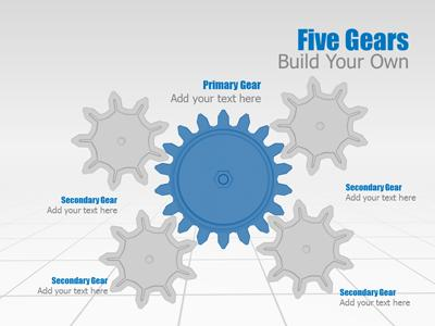 gear tool kit - a powerpoint template from presentermedia, Modern powerpoint