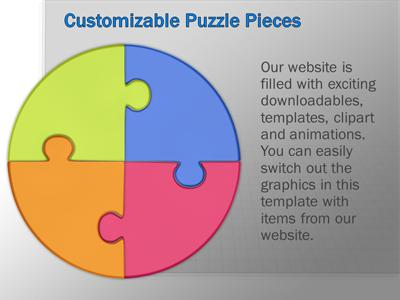 Puzzle piece pie chart a powerpoint template from presentermedia ccuart Gallery