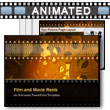 ID# 3841 Film And Movie Reels PowerPoint Template