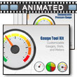 Gauge Tool Kit PowerPoint template