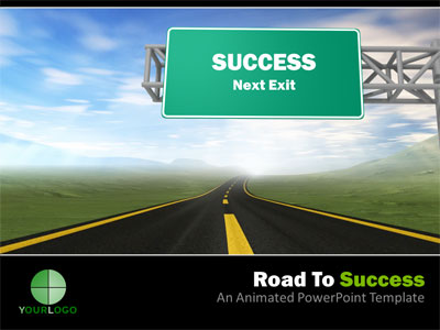 ID# 3951 - Road To Success - PowerPoint Template
