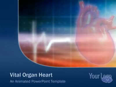 ID# 4090 - Vital Organ Heart - PowerPoint Template
