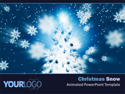 Christmas Snow - A Powerpoint Template From Presentermedia.Com