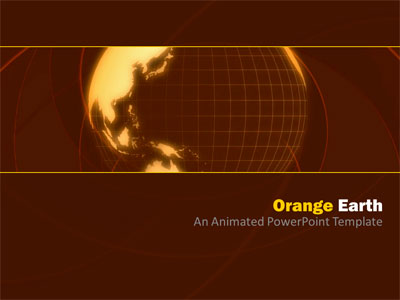 ID# 4241 - Orange Earth - PowerPoint Template