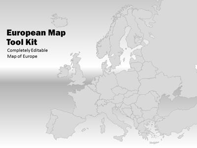 Europe Map Tool Kit - A PowerPoint Template from PresenterMedia.com