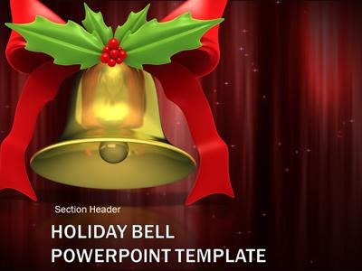 Christmas holiday bell ringing a powerpoint template from home powerpoint templates toneelgroepblik Images