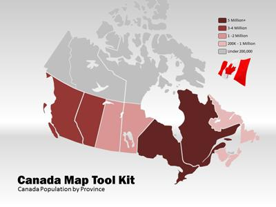 ID# 4330 - Canada Map Tool Kit - PowerPoint Template