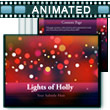 Lights Of Holly - PowerPoint Template