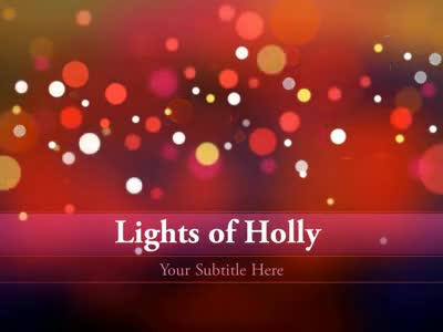 ID# 4340 - Lights Of Holly - PowerPoint Template