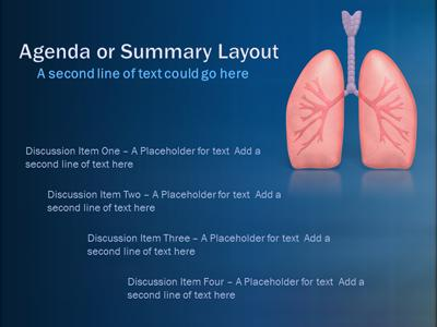 Vital Organ Lungs  PowerPoint Template