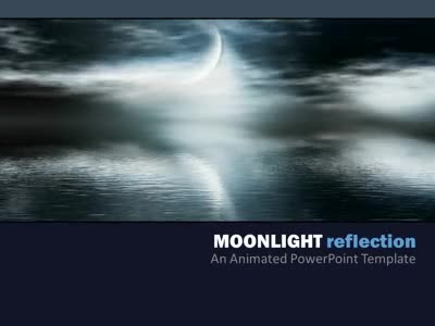 ID# 4522 - Moonlight Reflection - PowerPoint Template