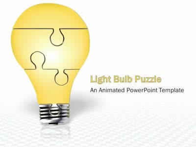 puzzle piece light bulb assemble - a powerpoint template from, Powerpoint templates