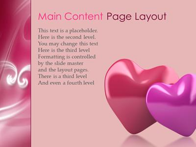 Whispered love a powerpoint template from presentermedia toneelgroepblik Image collections