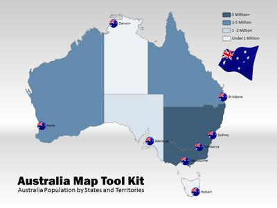 ID# 4768 - Australia Map Tool Kit - PowerPoint Template