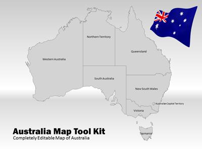 USA Map Tool Kit A PowerPoint Template From PresenterMediacom - Customizable us map for powerpoint