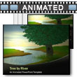 Tree by River - PowerPoint Template