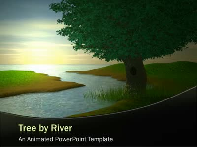 Tree by river a powerpoint template from presentermedia tree by river powerpoint template toneelgroepblik