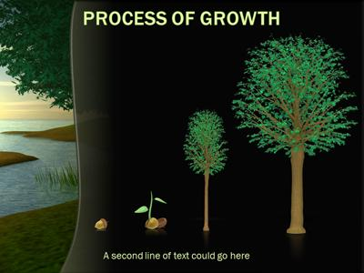 Tree by River PowerPoint Template