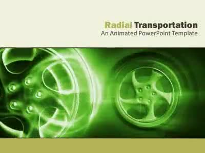 ID# 4830 - Radial Transportation - PowerPoint Template