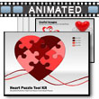 Heart Puzzle Piece Tool Kit PowerPoint template