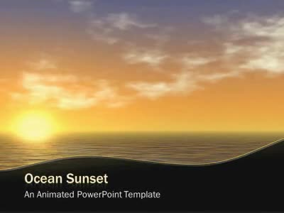 ID# 4981 - Ocean Sunset - PowerPoint Template