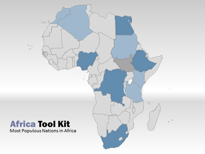 ID# 5050 - Africa Map Tool Kit - PowerPoint Template