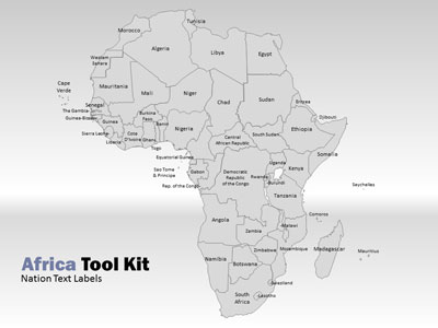 Africa map tool kit a powerpoint template from presentermedia toneelgroepblik Images
