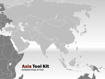 ID# 5074 - Asia Map Tool Kit - PowerPoint Template