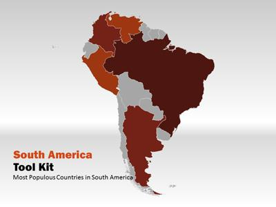ID# 5181 - South America Map Tool Kit - PowerPoint Template