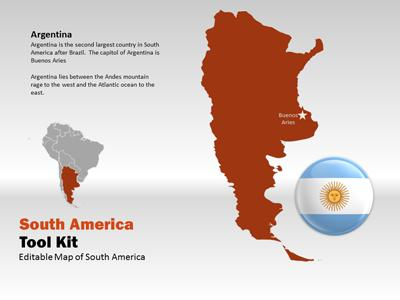 South america map tool kit a powerpoint template from powerpoint template loading preview close toneelgroepblik Image collections