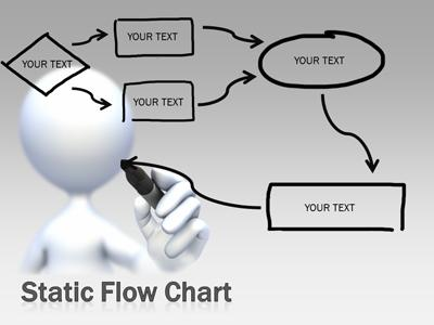 Flowchart Doodles  A Powerpoint Template From PresentermediaCom
