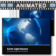 ID# 5376 Earth Light Beams PowerPoint Template