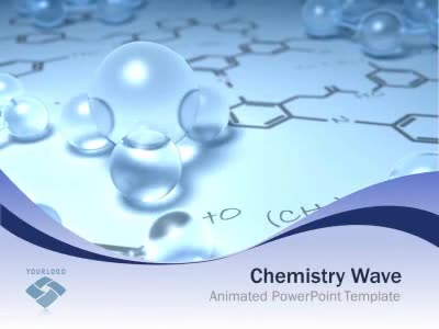 ID# 5430 - Chemistry Wave - PowerPoint Template